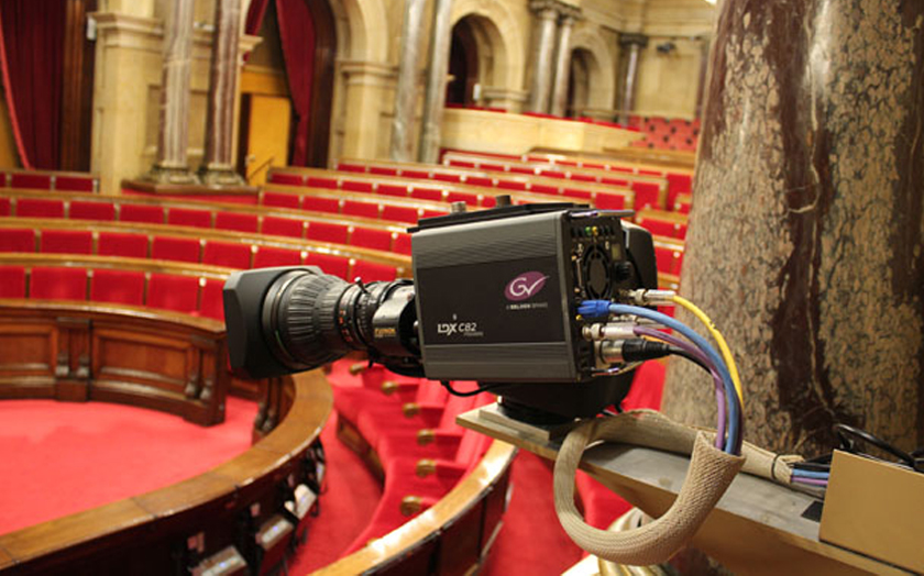 Crosspoint supplies equipment for updating the entire production and audiovisual infrastructure of the Parlament de Catalunya